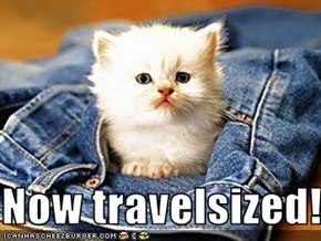 Now travelsized!