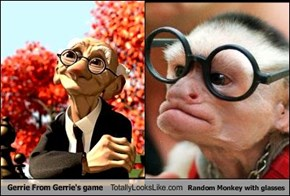 Gerrie From Gerrie's game Totally Looks Like Random Monkey with glasses