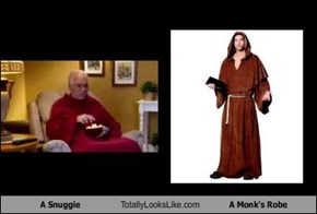 A Snuggie Totally Looks Like A Monk's Robe