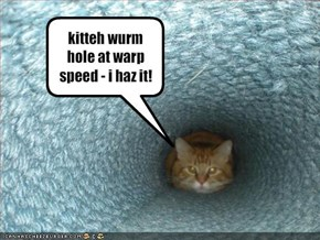kitteh wurm hole at warp speed - i haz it!