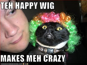 TEH HAPPY WIG  MAKES MEH CRAZY