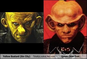 Yellow Bastard (Sin City) Totally Looks Like Quark (Star Trek)