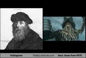 Pythagoras Totally Looks Like Davy Jones from POTC