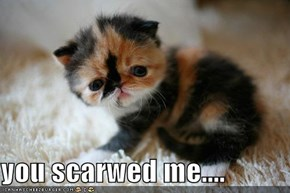 you scarwed me....