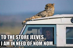 TO THE STORE JEEVES, 