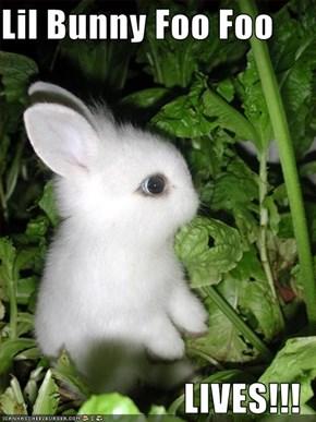 Lil Bunny Foo Foo  LIVES!!!