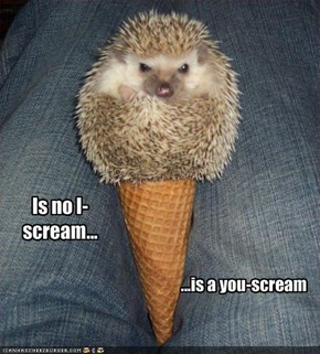 Is no I-scream...
