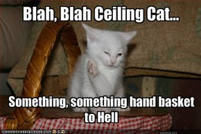 Blah, Blah Ceiling Cat...