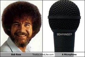 Bob Ross Totally Looks Like A Microphone