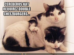 CEREBERUS KAT REQUIREZ DOUBLE CHEEZBURGERS...