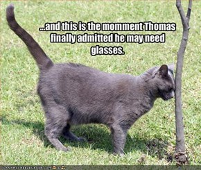 ...and this is the momment Thomas finally admitted he may need glasses.