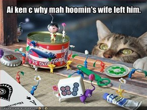 Ai ken c why mah hoomin's wife left him.