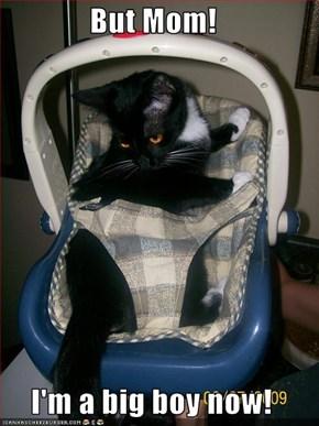 But Mom!  I'm a big boy now!