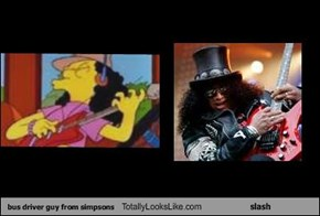 bus driver guy from simpsons Totally Looks Like slash