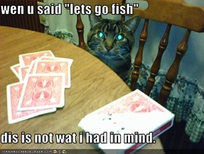 "wen u said ""lets go fish""  dis is not wat i had in mind."