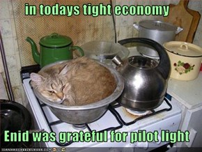 in todays tight economy  Enid was grateful for pilot light
