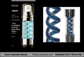 Avon Cosmetic Serum Totally Looks Like Resident Evil T-Virus Vial
