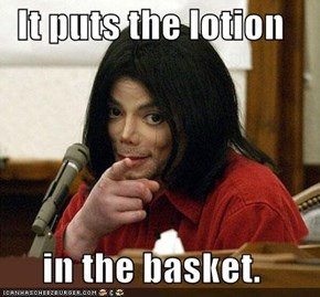 It puts the lotion  in the basket.