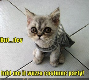 But...dey told me it wuzza costume party!