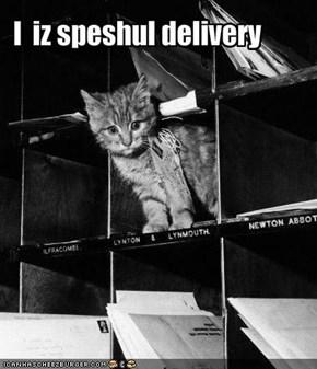 I  iz speshul delivery