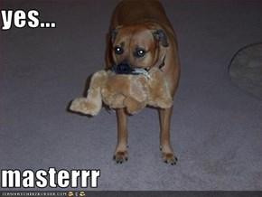 yes...  masterrr