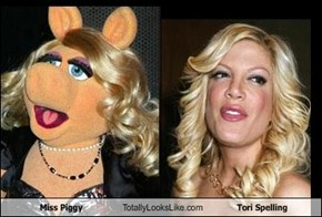 Miss Piggy Totally Looks Like Tori Spelling