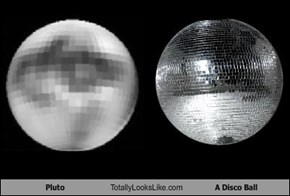Pluto Totally Looks Like A Disco Ball