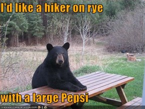 I'd like a hiker on rye  with a large Pepsi