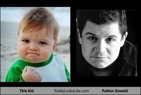 This Kid Totally Looks Like Patton Oswald