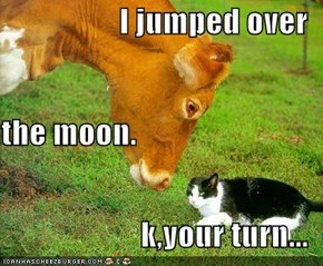 I jumped over the moon. k,your turn...
