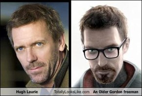 Hugh Laurie  Totally Looks Like An Older Gordon freeman