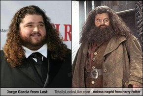 Jorge Garcia from Lost Totally Looks Like Rubeus Hagrid from Harry Potter