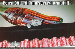 Pepsi Cat will find secret formula!!