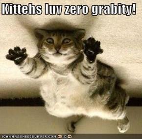 Kittehs luv zero grabity!