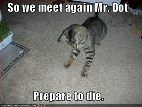 So we meet again Mr. Dot  Prepare to die.