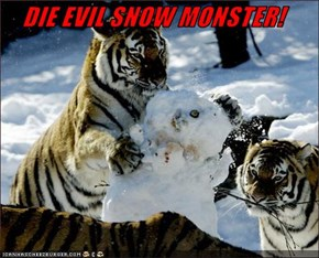 DIE EVIL SNOW MONSTER!