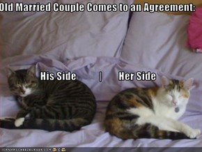 Old Married Couple Comes to an Agreement: His Side                    Her Side