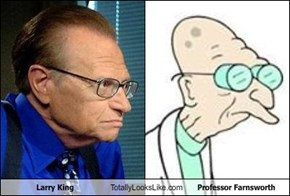 Larry King Totally Looks Like Professor Farnsworth
