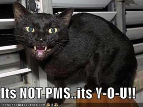 Its NOT PMS..its Y-O-U!!