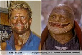 Fail Tan Guy Totally Looks Like Goomba from the Mario Bros movie