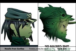 Noodle from Gorillaz Totally Looks Like Tank Girl