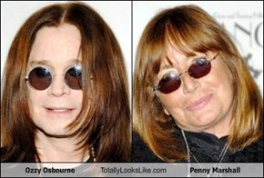 Ozzy Osbourne Totally Looks Like Penny Marshall