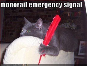 monorail emergency signal