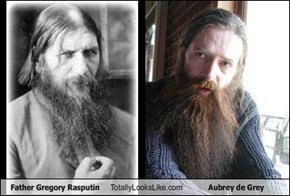 Father Gregory Rasputin Totally Looks Like Aubrey de Grey
