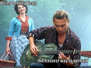 Being Johnny Depp  ...the easiest way to get laid