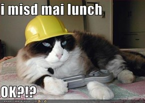 i misd mai lunch  OK?!?