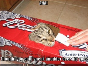 AHA!  Thought you culd sneak anudder beer did yoo?