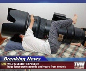 Breaking News - WILD'S SECRET EXPOSED!! huge lense peels pounds and years from models