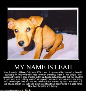 MY NAME IS LEAH