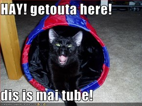 HAY! getouta here!  dis is mai tube!